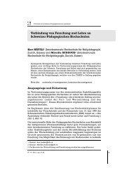 Verbindung von Forschung und Lehre an Schweizer ... - HfH