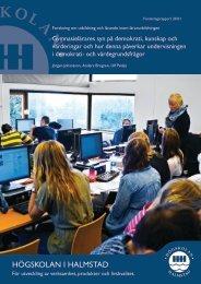 7. Slutsatser och framtida forskning - Högskolan i Halmstad