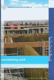 Jaarrekening 2008 - Delfland