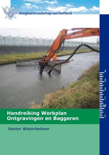 Handreiking Werkplan Ontgravingen en Baggeren - Delfland