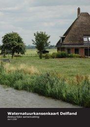 Betuurlijk samenvatting van de Waternatuurkansenkaart - Delfland