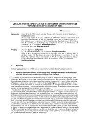Verslag Informatieve VV 31 oktober 2006 - Delfland