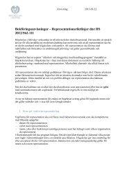 Konteringsanvisningar för representation - Högskolan i Skövde