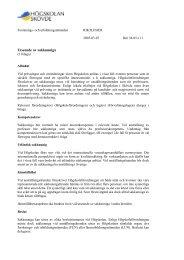 Riktlinjer för utseende av sakkunniga - Högskolan i Skövde