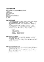 Rapportstruktur - Högskolan i Skövde