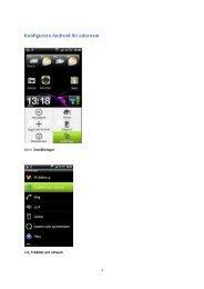 Konfigurera Android för eduroam
