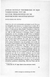 Johan Rudolf Thorbecke in zijn verhouding tot de Duitse ...