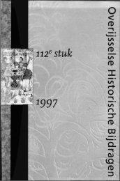 Overijsselse Historische Bijdragen - Historisch Centrum Overijssel