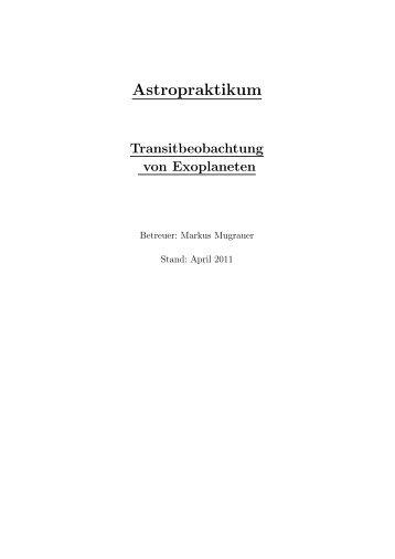 C) Beobachtung von Planetentransits (Mugrauer)