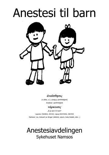 Anestesi til barn