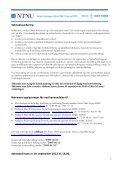 Utlysning midler til doktorgradsstipend, postdoktorstipend ... - Page 5