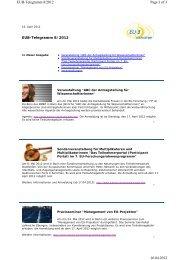 EUB-Telegramm_8/2012 - Hochschule Biberach