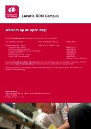 Welkom op de open dag! Locatie RDM Campus - Hogeschool ...