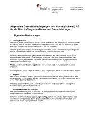 Allgemeine Geschäftsbedingungen von Holcim (Schweiz) AG für die ...