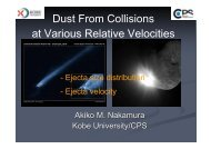 Dust From Collisions at Various Relative Velocities