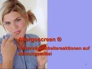 Allergoscreen ® - Internationale Gesellschaft für Biologische Medizin