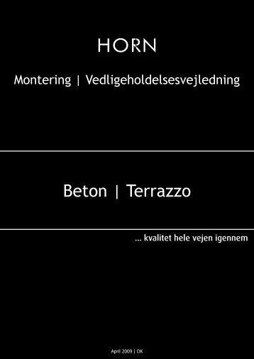 Beton | Terrazzo - Horn Bordplader