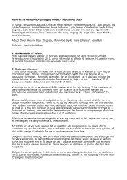 Referat fra HovedMED-udvalgets møde 7. september 2010 Til stede ...