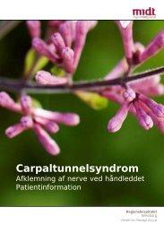 Afklemning af nerve ved håndleddet - Hospitalsenhed Midt