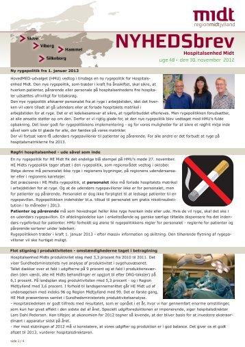 Uge 48 / 2012 - Hospitalsenhed Midt