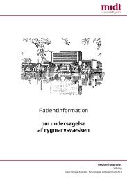 Patientinformation om undersøgelse af rygmarvsvæsken