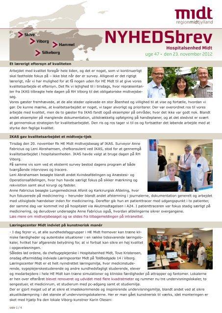 NYHEDSbrev - Hospitalsenhed Midt