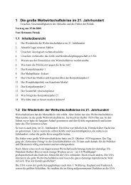 1 Die große Weltwirtschaftskrise im 21. Jahrhundert - Hermann Patzak