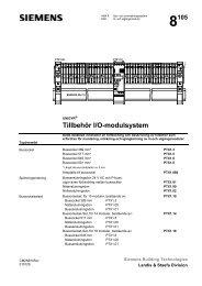 Tillbehör I/O-modulsystem - Siemens Building Technologies
