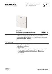 Rumstemperaturgivare QAA910 - Siemens Building Technologies