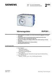 2464 Värmeregulator RVP201… - Siemens Building Technologies