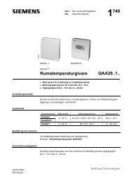 1749 Rumstemperaturgivare QAA20..1.. - Siemens Building ...