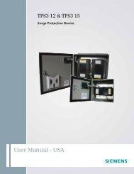 User Manual - USA - Siemens Building Technologies