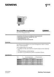 1910 Druckdifferenzfühler QBM66... - Siemens Building Technologies