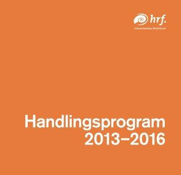 Handlingsprogram 2013-2016 - Hrf