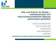 Kita und Schule im Dialog – mathematische und ...