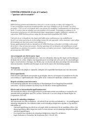"""UPPFÖRANDEKOD (Code of Conduct) - """"partner och ... - HSB"""