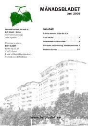 MÅNADSBLADET - HSB