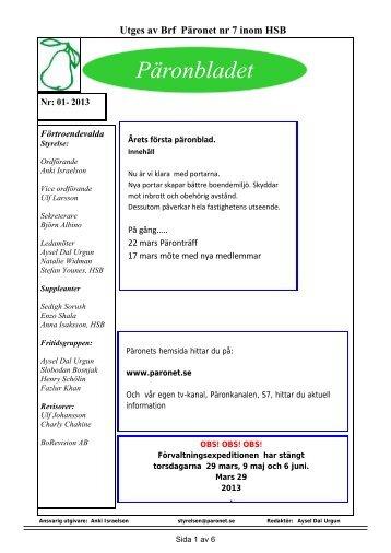 Päronbladet nr 1 2013.pdf - HSB
