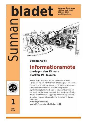 Sunnanblad 1 2006.pdf - HSB