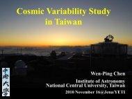 Cosmic Variability Study in Taiwan