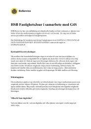 HSB FastighetsJour i samarbete med G4S