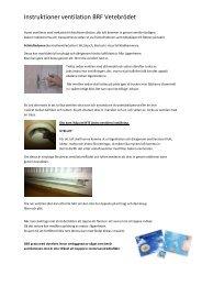 Instruktioner ventilation BRF Vetebrödet - HSB