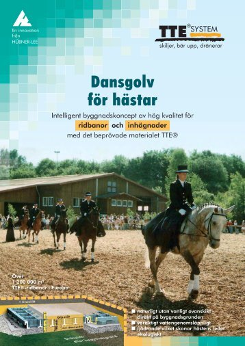 Dansgolv för hästar - Hübner-Lee