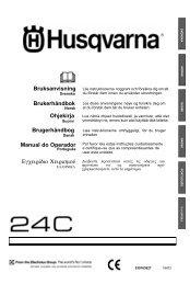 Ohjekirja Brugerhåndbog Manual do Operador ... - Husqvarna