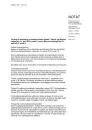 Forslag til beslutning i TMU og ØU - Hvidovre Kommune
