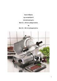 Oversættelse af instruktionsbog for installation og brug af