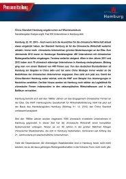China Standort Hamburg ungebrochen auf Wachstumskurs - HWF ...