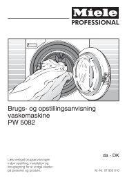 Brugs- og opstillingsanvisning vaskemaskine PW 5082