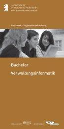 Verwaltungsinformatik Bachelor - Hochschule für Wirtschaft und ...