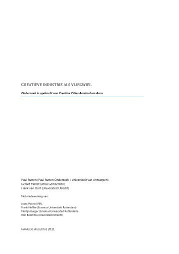 Het volledige rapport Creatieve Industrie als Vliegwiel - I amsterdam